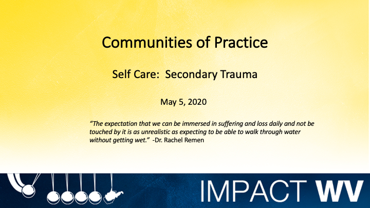 a snapshot of the Communities of Practice Resiliency (PPT)