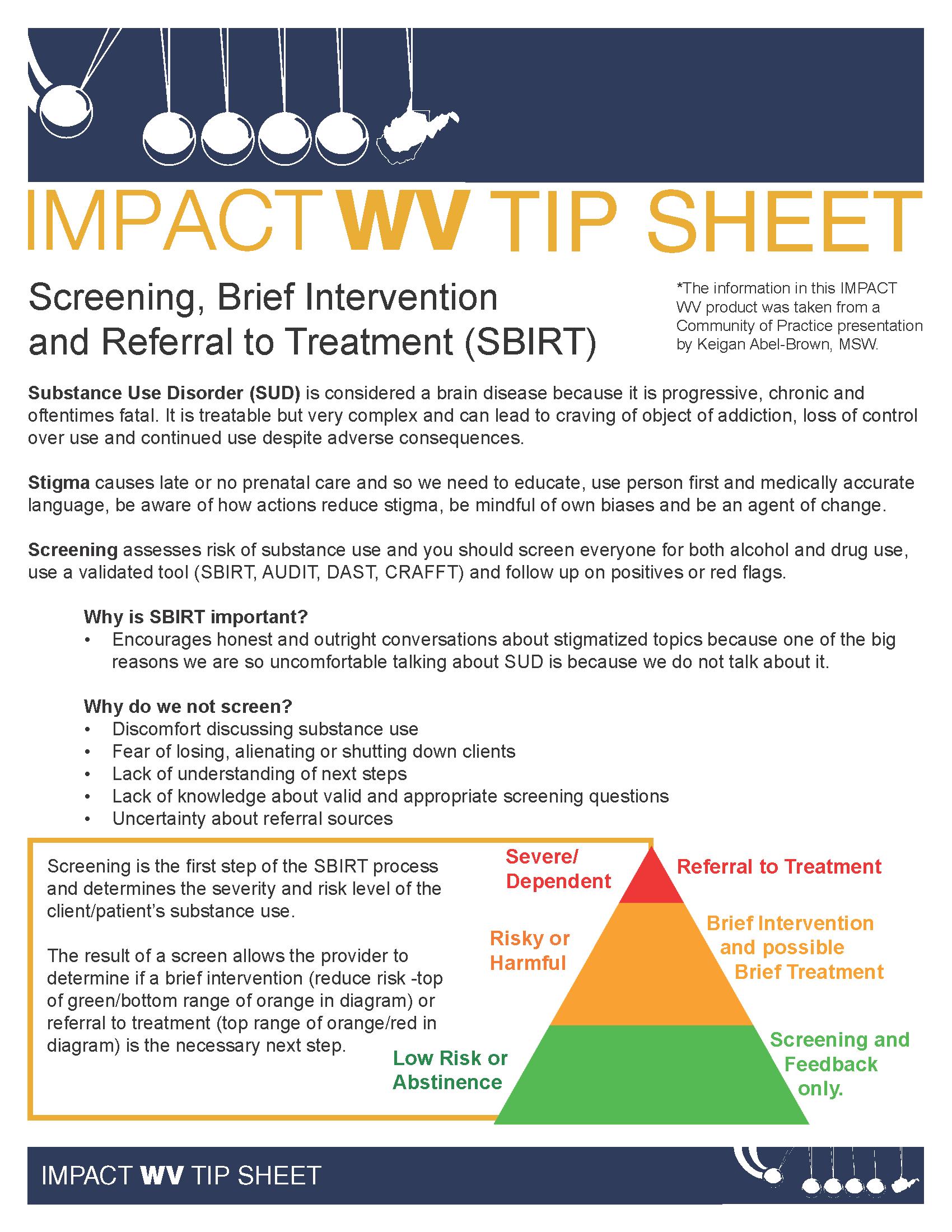 IMPACT WV TIp Sheet