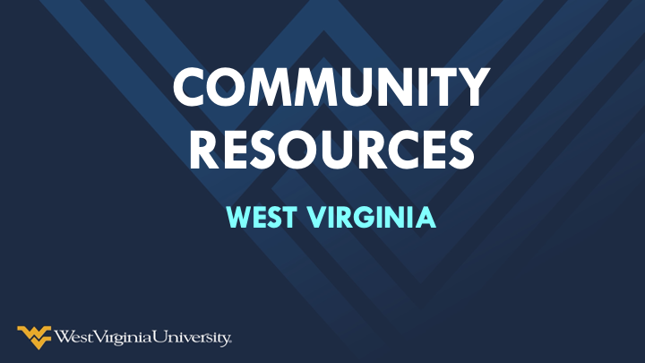 a snapshot of the Community Resources  West Virginia presentation