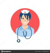 a cartoon graphic of a nurse