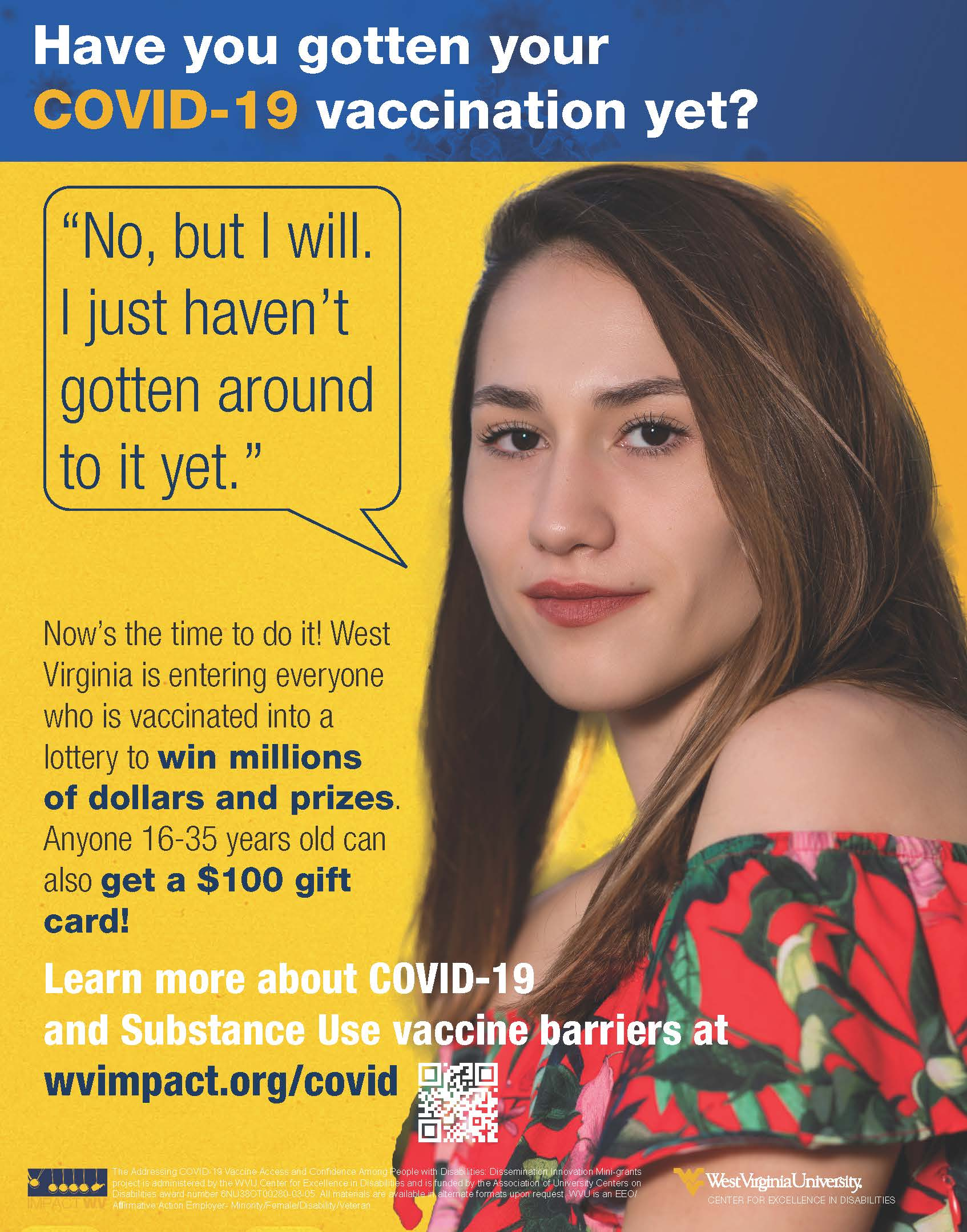 an image with the win millions of dollars in prizes text featuring an caucasion woman